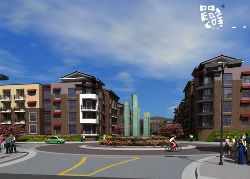 Courtesy   Utah Transit Authority An artist's rendering shows what the Jordan Valley TRAX station and parking garage will look like once planned development is completed there.