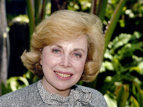"FILE - In this Sept. 1, 1987 file photo, Dr. Joyce Brothers takes a break from a busy schedule in Los Angeles to talk about her upcoming television series, ""The Psychology Behind the News."" Brothers died Monday, May 13, 2013, in New York City, according to publicist Sanford Brokaw. She was 85. (AP Photo/Nick Ut, File)"