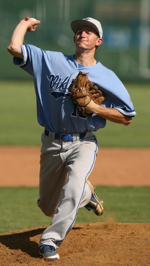 Leah Hogsten  |  The Salt Lake Tribune Pleasant Grove starting pitcher Brandon Coombs. Pleasant Grove High School boys baseball team defeated Jordan High School 6-5, Tuesday, May 14, 2013 in Sandy.