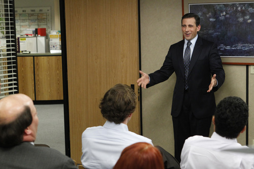"""Steve Carell as Michael Scott in """"Goodbye Michael, Part 2"""" episode of """"The Office."""" Courtesy Chris Haston     NBC"""