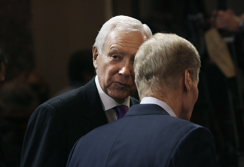 Scott Sommerdorf   |  Tribune file photo Sen. Orrin Hatch, R-Utah, is leading a group of Republicans seeking a new line of inquiry in the IRS scandal -- one aimed at the release of confidential documents, including those from a group that spent $570,000 helping to re-elect the Utah senator.