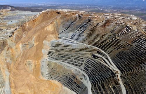 Francisco Kjolseth  |  The Salt Lake Tribune  The landslide area at Kennecott is seen in this photo from Thursday, April 18, 2013.