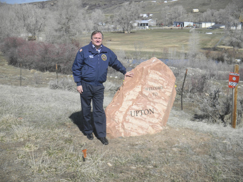 Tom Wharton     The Salt Lake Tribune Mike Mower, deputy chief of staff for Gov. Gary Herbert, completed his quest to visit all 470 cities listed on the Utah road map by visiting Upton in Summit County.