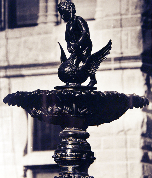 (Salt Lake Tribune Archives)  Detail of one of the fountains at the Salt Lake City and County Building on 400 S. State St. The building was originally constructed by Freemasons between 1891 and 1894.