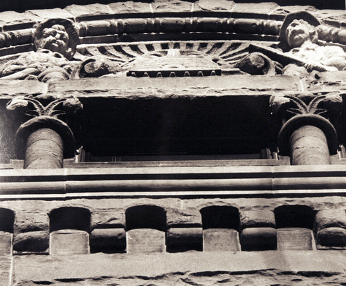 (Salt Lake Tribune Archives)  Beehive detail on the west side of the Salt Lake City and County Building on 400 S. State St. The building was originally constructed by Freemasons between 1891 and 1894. Construction of the building was riddled with controversy. During the late 19th and early 20th centuries the City and County Building was the symbol of non-Mormon citizens' open defiance of The Church of Jesus Christ of Latter-day Saints. It was designed to rival the Salt Lake Temple as the city's architectural centerpiece. It is even thought that the building's clock tower and statues were designed to mimic the temple's spires and statue of the angel Moroni.
