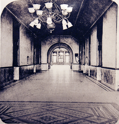 (Salt Lake Tribune Archives)  Interior of the Salt Lake City and County Building on 400 S. State St. The building was originally constructed by Freemasons between 1891 and 1894.