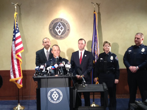 Steve Griffin  |  The Salt Lake Tribune West Valley City police announced they are ending the search for Susan Powell during a news conference Monday, May 20, 2013. Police also plan to release all documents related to the investigation into Powell's disappearance.