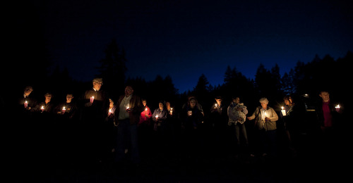 A crowd of about twenty attended a vigil for Susan Cox Powell at an LDS chapel in Puyallup, Wash., on Saturday to remember her three months after her disappearance.  Stephen Brashear