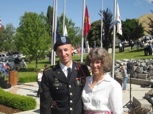 Courtesy image Cody Towse and his mother, Jamie Towse, at his graduation from Army basic training. The 21-year-old soldier was killed in an explosion May 14, 2013, in Afghanistan.