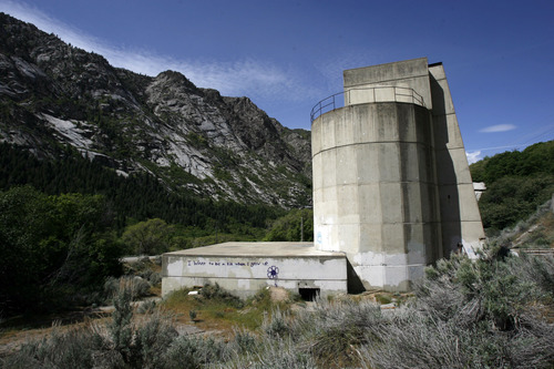 Francisco Kjolseth  |  The Salt Lake Tribune The Forest Service is seeking public comment on a plan to demolish the old Grit Mill less than a mile up Little Cottonwood Canyon, on the north side of the road. The granite cliffs above are popular with rock climbers and the plan is to develop a nice parking area for them along with trails connecting it to the UTA parking lot at the base of the canyon.