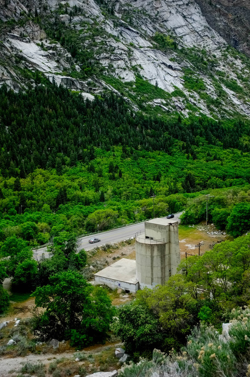 Trent Nelson  |  The Salt Lake Tribune The Forest Service is seeking public comment on a plan to demolish the old Grit Mill less than a mile up Little Cottonwood Canyon to make a parking area for rock climbers. Thursday May 16, 2013.