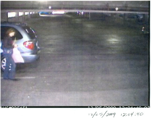 surveillance footage evidently shows Susan Powell arriving to and leaving from work at Wells Fargo in December 2009. These photos were among the tens of thousands of documents released May 20 by the West Valley City Police Department. . Courtesy: WVCPD