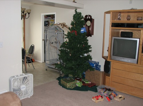 This is another photo West Valley City police snapped, presumably on Dec. 7, 2009, of the fan sitting in the living room of Susan and Josh Powell's home. Photo courtesy West Valley City police.