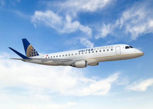 SkyWest will begin flying Brazilian-made E-175 regional jets for United Express beginning next year. Courtesy image