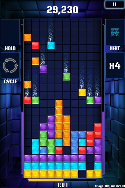"Screenshot from the mobile game, ""Tetris Blitz,"" developed by EA Salt Lake. Courtesy image"