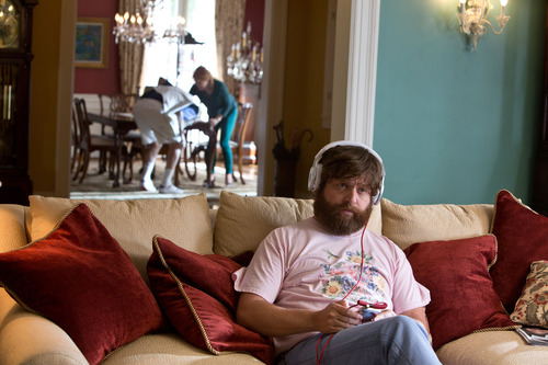 "This undated publicity photo released by Warner Bros. Pictures shows Zach Galfianakis as Alan in Warner Bros. Pictures' and Legendary Pictures' comedy ""The Hangover Part III,"" a Warner Bros. Pictures release. (AP Photo/Warner Bros. Pictures, Melinda Sue Gordon)"
