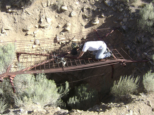 Investigators for West Valley City Police search a mine in Utah's West Desert in hopes of finding missing Utah mom Susan Cox Powell. Courtesy West Valley City Police Department