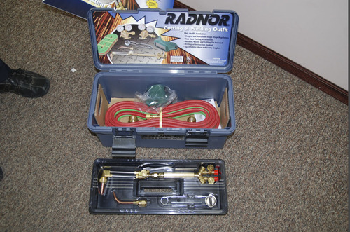 Josh Powell bought this metal cutting torch kit around the day before Thanksgiving 2009. It appears to be unused. Courtesy West Valley City Police Department