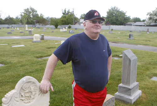 """Al Hartmann     The Salt Lake Tribune Lee Bennion has been a volunteer sexton for the Taylorsville Cemetery at 4575 South Redwood Road since 1990. He keeps the grounds maintained and helps grieving families. """"It is a sacred place for so many people I know. That's why I stay there and take care of it,"""" he said."""