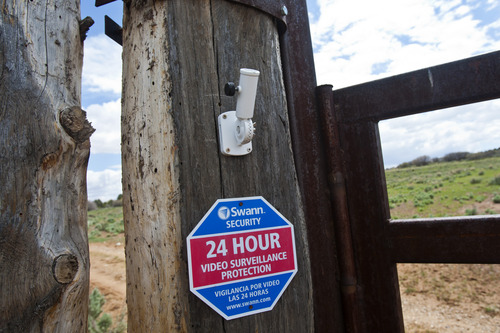 Chris Detrick  |  The Salt Lake Tribune A sign at the entrance of Chris Odekerken's Elkheart Cliffs Ranch on his property on Glendale Bench Wednesday May 8, 2013.