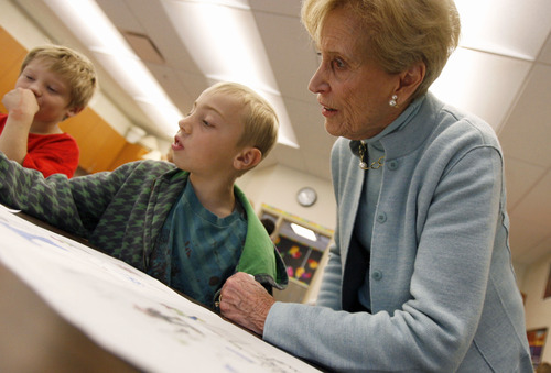 Tribune file photo Beverley Taylor Sorenson, a Utah philanthropist and advocate for the arts and education, died Monday at the age of 89 of natural causes. Here, she is pictured in 2008 at Highland Park Elementary in Salt Lake.