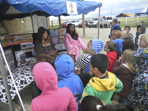 Tom Wharton  |  The Salt Lake Tribune Fourth-graders from all over Utah recently went to the Butterfield Farm in Herriman to learn about where their food comes from.