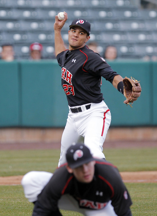 Steve C. Wilson | University of Utah sports information Dallas Carroll batted .282 in 28 starts this season for the Utes.