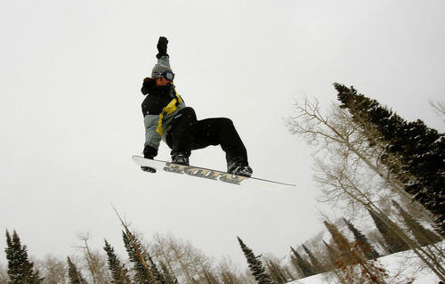Tribune file photo A snowboarder at The Canyons Resort.