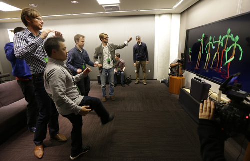 (AP Photo/Ted S. Warren) The Kinect 2 camera can  read which muscles are flexing and how your weight is being distributed to each leg, leaving some gamers to wonder whether, in wrong hands, it could be used to snoop.