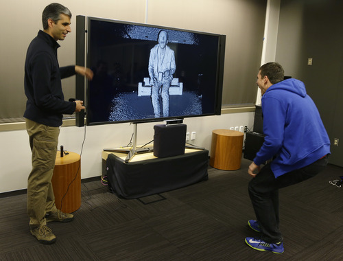 (AP Photo/Ted S. Warren) Some gamers are worried because the resolution on the Xbox One Kinect 2 camera is so high that it actually can identify your face, coupled with the fact that it is peering into your living room with an always-on connection to the Internet.