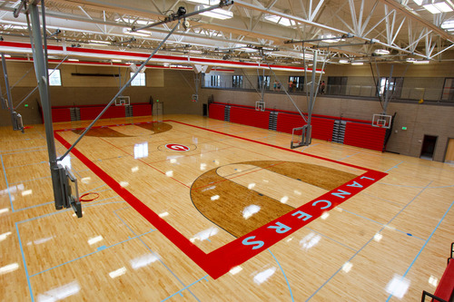 Trent Nelson  |  The Salt Lake Tribune The gym at the new Granger High School, which was open for tours Saturday June 1, 2013 in West Valley City.