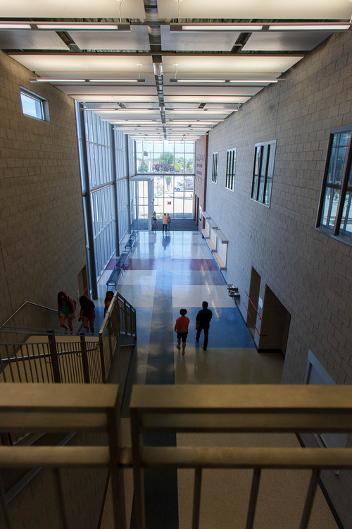 Trent Nelson  |  The Salt Lake Tribune The new Granger High School was open for tours Saturday June 1, 2013 in West Valley City.