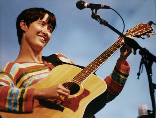 Rick Egan  | The Salt Lake Tribune   Michelle Shocked, Red Butte, Gardens, July 3, 1992