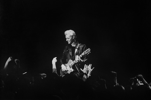 Rick Egan  | The Salt Lake Tribune   Billy Zoom, X, The Fairgrounds Coliseum, 1984.