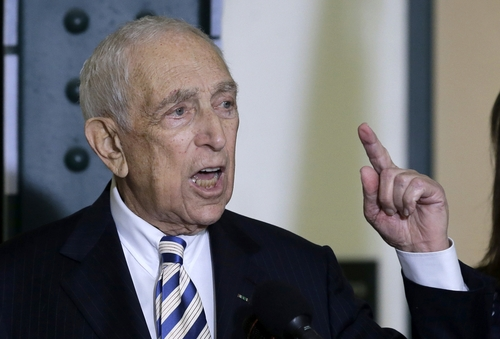 FILE - In this Feb. 15, 2013 file photo, Sen. Frank Lautenberg, the oldest member of the Senate, speaks in his hometown of Paterson, N.J., where he said he plans to retire at the end of his current term. Lautenberg, a multimillionaire New Jersey businessman and liberal who was called out of retirement for a second tour of duty in Congress, has died at age 89.  (AP Photo/Mel Evans, File)