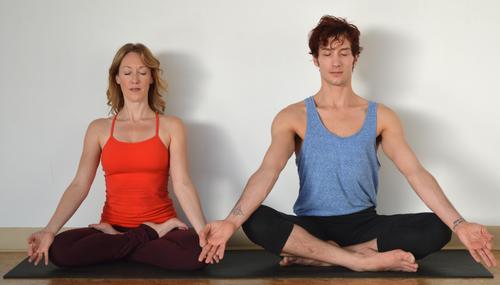 Selina Gorst   Courtesy Jami Larsen and Michael Garber practiceg yoga at We Are Yoga in Sugar House.