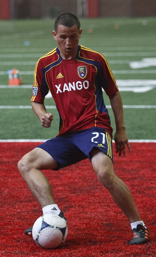 Leah Hogsten  |  The Salt Lake Tribune Real Salt Lake's Luis Gil  has been one of the nation's most highly regarded young players throughout his teenage years. RSL expects Gil to have an impact this season.