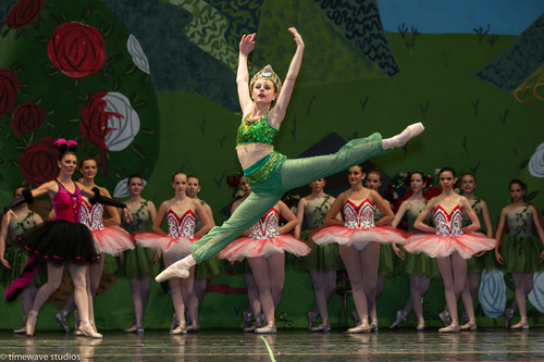 """Courtesy of Timewave Studios Chandler Meyer performs the role of the Caterpillar during the Bountiful School of Ballet's finale """"Alice in Wonderland,"""" last month. The ballet studio celebrated their 40th year in business this year."""