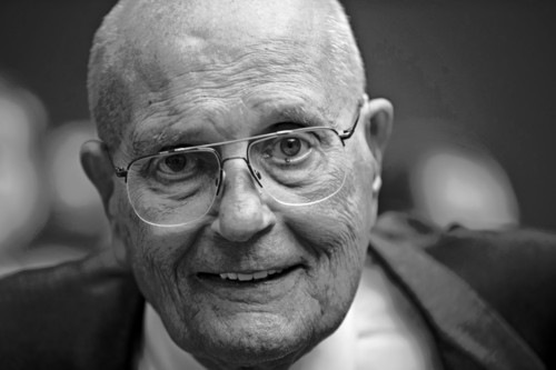 """Rep. John Dingell, D-Mich. is celebrated by friends and colleagues on Capitol Hill in Washington, Friday, June 7, 2013, as he becomes the longest-serving member of Congress in history with his 20,997th day as a representative. A former chairman of the Energy and Commerce Committee, Dingell, now 86, says he has no plans to retire as the representative of Michigan's 12th District that includes Dearborn and Ypsilanti. Rep. Dingell recalled wisdom passed on by his late father, Congressman John D. Dingell Sr., """"It's not how long you serve; it's how well you serve."""" (AP Photo/J. Scott Applewhite)"""