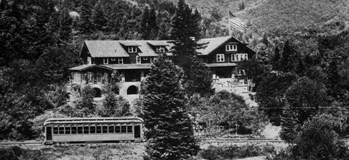 Courtesy Utah Historical Society The Pinecrest Inn in Emigration Canyon.