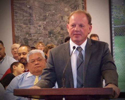 North Ogden Police Chief Kevin Warren speaks during recent appearance. (NOPD photo)