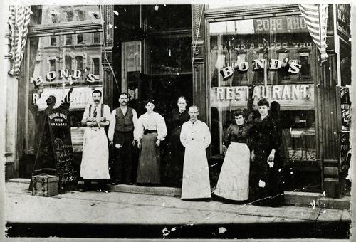 Tribune file photo  Bond's Restaurant, 117 S Main, Salt Lake City circa 1900.
