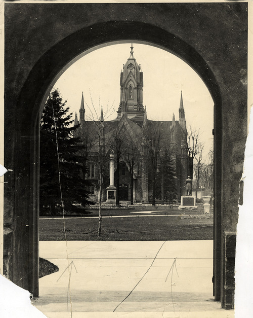 Tribune file photo  This photo shows an undated view of the Assembly Hall at Temple Square.