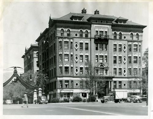 Tribune file photo  The Bransford Apartments Building in Salt Lake City, 1946.