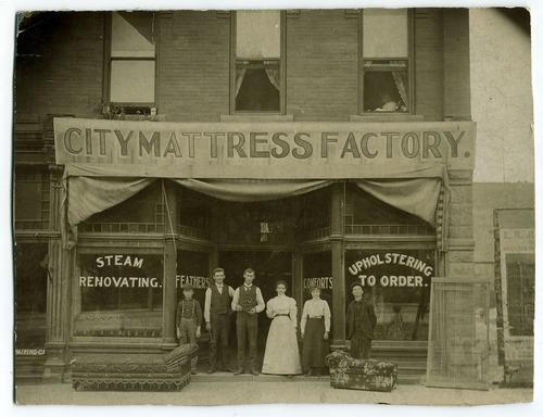 Tribune file photo  City Mattress Factory, 400 S Main, Salt Lake City, 1898.