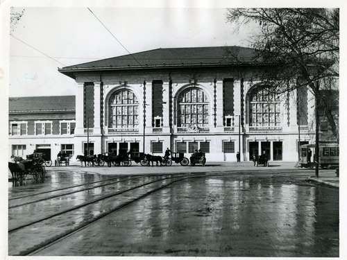 Tribune file photo  Rio Grande train depot in Salt Lake City, August 1910.