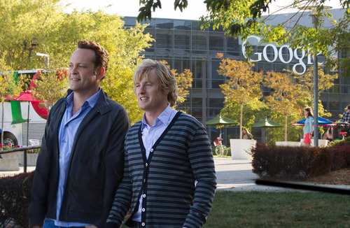"This film publicity image released by 20th Century Fox shows Owen Wilson, right, and Vince Vaughn in a scene from ""The Internship."" (AP Photo/20th Century Fox, Phil Bray)"
