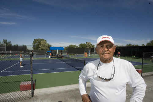 Paul Fraughton  |  The Salt Lake Tribune Mike Martines has run Coach Mike's Tennis Academy at the Dee Smith Tennis Center for 15 years. The city is not renewing his contract.  Friday, June 7, 2013