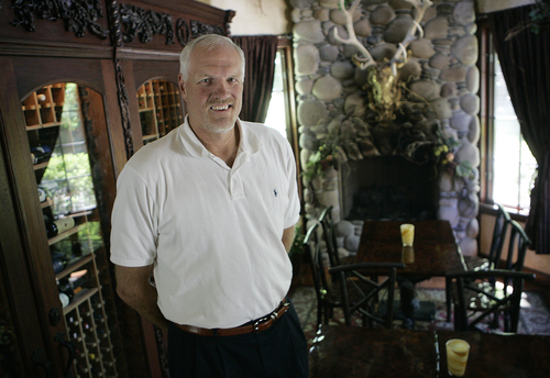 Keith Johnson | The Salt Lake Tribune  Former Utah Jazz player Mark Eaton photographed at his restaurant Tuscany in Salt Lake City May 24, 2013.