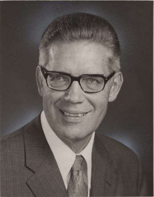 """Bruce R. McConkie. shown ini 1972, at one time taught that black skin was """"the curse of Cain,"""" an allusion to the biblical figure who killed his brother Abel."""